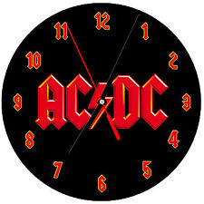 "8"" WALL CLOCK - ACDC AC/DC 1 Logo - Kitchen Office Bathroom Bar Bedroom"