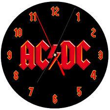 "8"" WALL CLOCK - ACDC AC/DC #SN1 Logo - Kitchen Office Bathroom Bar Bedroom"
