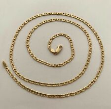 UNISEX CHAIN NECKLACE MADE IN ITALY 18K YG 12.8 GR, APPR. RETAIL USD $1,900.00