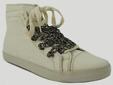 UES by Steve Madden Women's U-NISEC Ankle Sneakers Off White Size 9.5 M