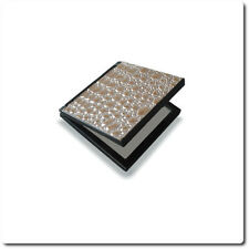 Compact Plastic Mirror With Reptile Print
