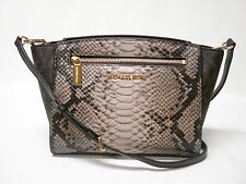 NWT MICHAEL KORS SOPHIE MEDIUM SATCHEL PURSE BAG PYTHON PRINT SAND 30T4MOHM2V