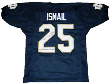 RAGHIB ROCKET ISMAIL AUTOGRAPHED SIGNED NOTRE DAME IRISH #25 NAVY JERSEY JSA