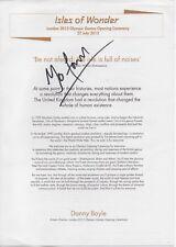 MO FARAH OLYMPIC GOLD SIGNED DANNY BOYLE OPENING CEREMONY SHEET MUSIC 2012