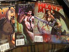 HEAVY METAL Magazine Sept 2010, November 2010 & January 2011. All VG Condition