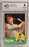 1963 Topps #25 Al Kaline Beckett Excellent 8 Detroit Tigers