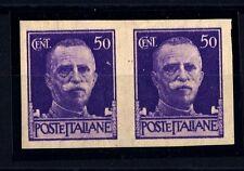 ITALIA - Regno - 1929 - Imperiale, coppia del francobollo da 50 cent. non dent.