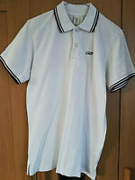 JACK & JONES PREMIUM MENS WHITE SHORT SLEEVE POLO SHIRT TOP SIZE MEDIUM COLLARED