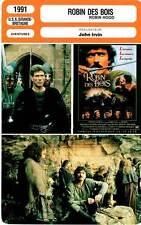 FICHE CINEMA : ROBIN DES BOIS - Bergin,Thurman,Prochnow,Irvin 1991 Robin Hood