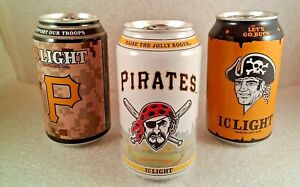 Pittsburgh Pirates MLB Iron Beer Can Bottom Opened Jolly Roger 3 can set 2015
