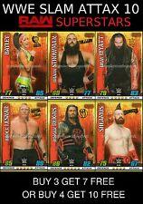 WWE SLAM ATTAX 10 - RAW SUPERSTARS - BUY 3 GET 7 FREE