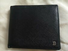 Bally Saffiano Leather Black Wallet Card Holder