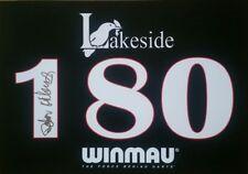 Lakeside Darts Deta Hedman, hand signed in person 180 board.