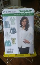 Oop Simplicity Khaliah Ali 3789 misses top blouse tunic tucks sz 14-22 NEW