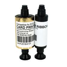 Ribbon for Evolis Pebble Series Dualys 3 Securion Printers R2016 Gold 1000 print
