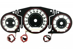 Chrysler Crossfire glow gauges dials plasma dials kit tacho glow dash shift indi