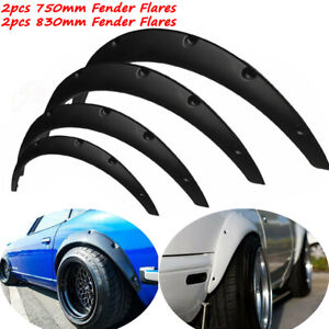4Pcs Wheel Arches Cover Universal Car Fender Flares Extra Wide Body 750&830mm