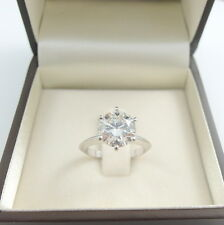 3.25 CARAT ROUND CUT E/VS2 DIAMOND SOLITAIRE ENGAGEMENT RING PLATINUM
