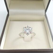 3.25 CARAT ROUND CUT E/VS2 DIAMOND SOLITAIRE ENGAGEMENT RING PLATINUM