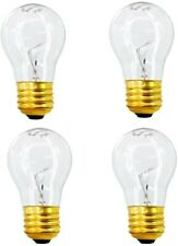 4 BULBS FOR GE 40 Watt Appliance Light Bulb Oven Refrigerator Lava Lamp A15