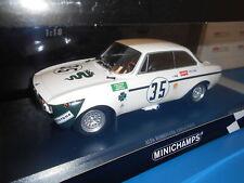 MINICHAMPS ALFA ROMEO GTA 1300 JUNIOR #35 JARAMA WHITE 1972 1:18