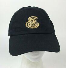 PANERA St Louis Bread Co UNIFORM Strapback Hat CAP Black TAN Logo COTTON OSFM