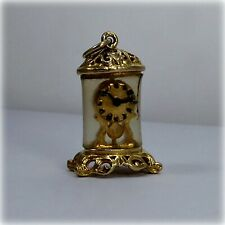 Vintage 9ct Gold Anniversary Clock Charm