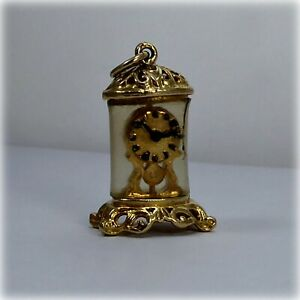 Vintage 9ct Gold Anniversary Clock Charm
