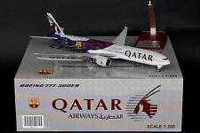 """Qatar Airways 777-300ER """"FC Barcelona"""" A7-BAE JC Wings 1:200 Models XX2757"""