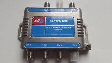 JVI 35-DTV34 mini Digital 4 Way Multi-Switch 40-2150MHz TV CABLE SAT Splitter