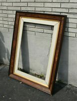 Victorian 19th Century Carved Gilded Burl Walnut Picture Frame