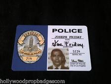 "Joe Friday ""DRAGNET"" 60's Tv Show ID Card"