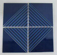 Vintage Gladding McBean Modern Tile Set/Blue=4 Ridges