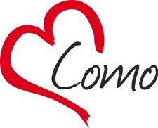 """Adesivo per auto """" COMO """" (Città) cuore Sticker ca.9x11 cm taglio contorno"""