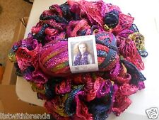 Handmade Knit Red Heart Sashay Ruffle Scarfs Several colors to choose 1 from