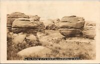 Real Photo Postcard Rock City near Minneapolis, Kansas~131603