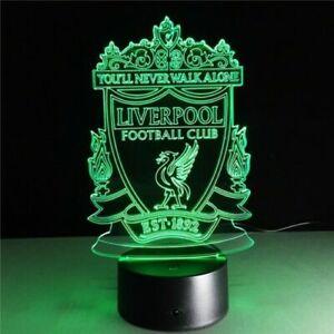 Liverpool FC LED Night Light Soccer Football fan Table Lamp Creative Home Decor