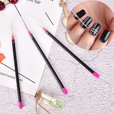 3Pcs Nail Art Tips Strumenti Polish Pen Drawing Lines Pennelli per unghie Penn