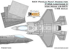 RAM Panels Paint Masks for F-35A Lightning II Meng LS-007 1/48 scale DN Models