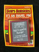 """SDCC 2018 Bob's Burgers Exclusive Burger of the Day 1.5"""" Enamel Pin 500 LE"""