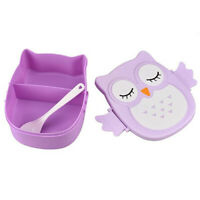 Cute Kawaii Owl Lunch Box Food Container Storage Box Kids School Bento Box Worth
