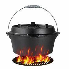 Feuertopf Dutch Oven mit Deckelheber Gusseisen Bräter Topf 7.6 L +Heber Kochtopf