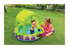 Piscina hinchable para niños bebe con toldo intex 188x147cm caballo de mar