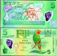 Fiji  2012 (2013) , 5 Dollars , Polymer Note UNC (ZZA Replacement)