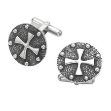 Sterling Silver Iron Cross Cufflinks - CL3