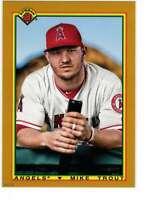 Mike Trout 2020 Bowman 1990 Bowman 5x7 Gold #90B-MT /10 Angels