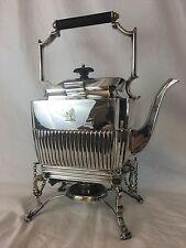 Edwardian English Sheffield Silverplate Tea Kettle On Stand, Circa 1910