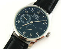 Parnis 43mm Black Dial Power Reserve Date ST2530 Automatic Men's Watch 154