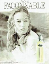 PUBLICITE ADVERTISING 126  2000   parfum Façonnable pour elle