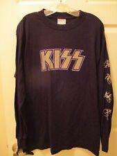 Vintage Kiss The Farewell Tour Black Purple Long Sleeve T-Shirt Size L Very Rare